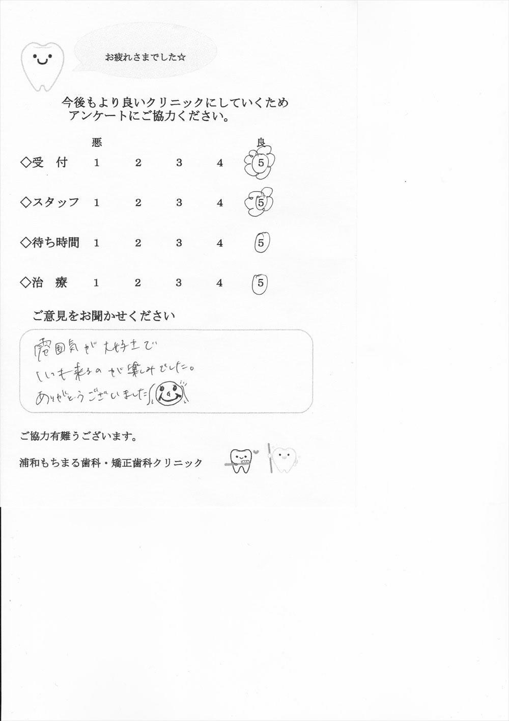 浦和もちまる歯科・矯正歯科の口コミ・評判アンケート12