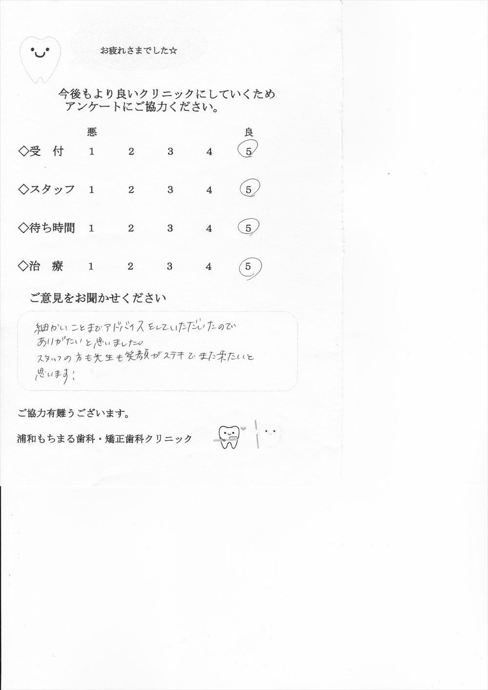 浦和もちまる歯科・矯正歯科の口コミ・評判アンケート14