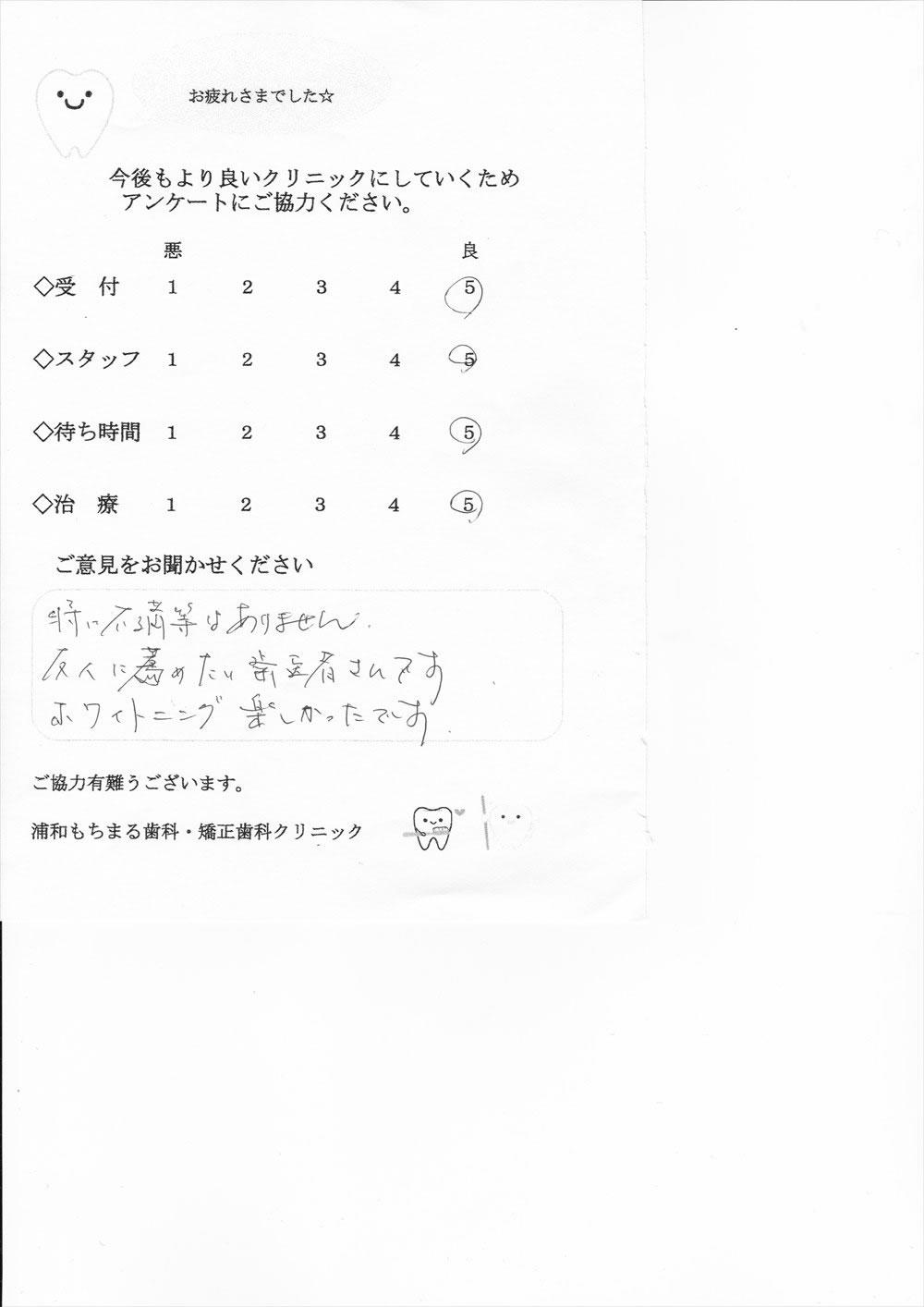 浦和もちまる歯科・矯正歯科の口コミ・評判アンケート15