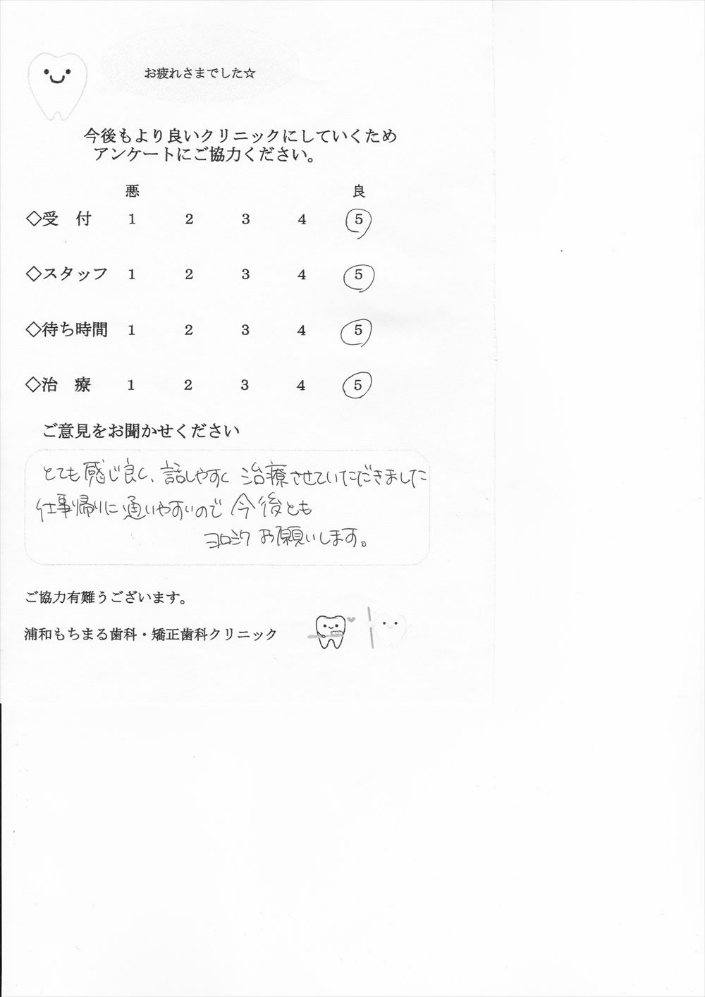 浦和もちまる歯科・矯正歯科の口コミ・評判アンケート18